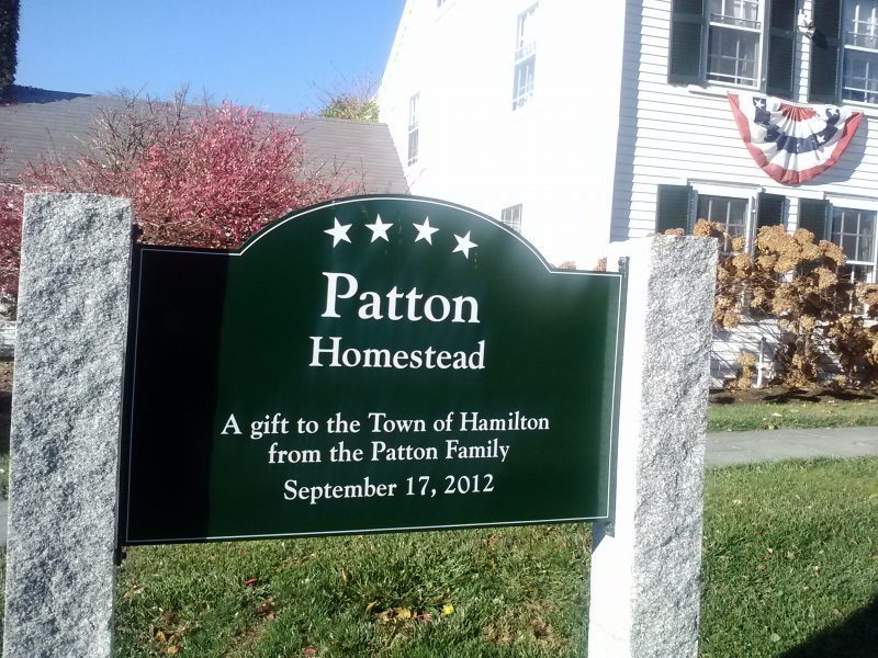 patton homestead sign